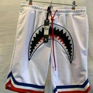Hudson Outerwear Men's Shark Mouth XL White Shorts